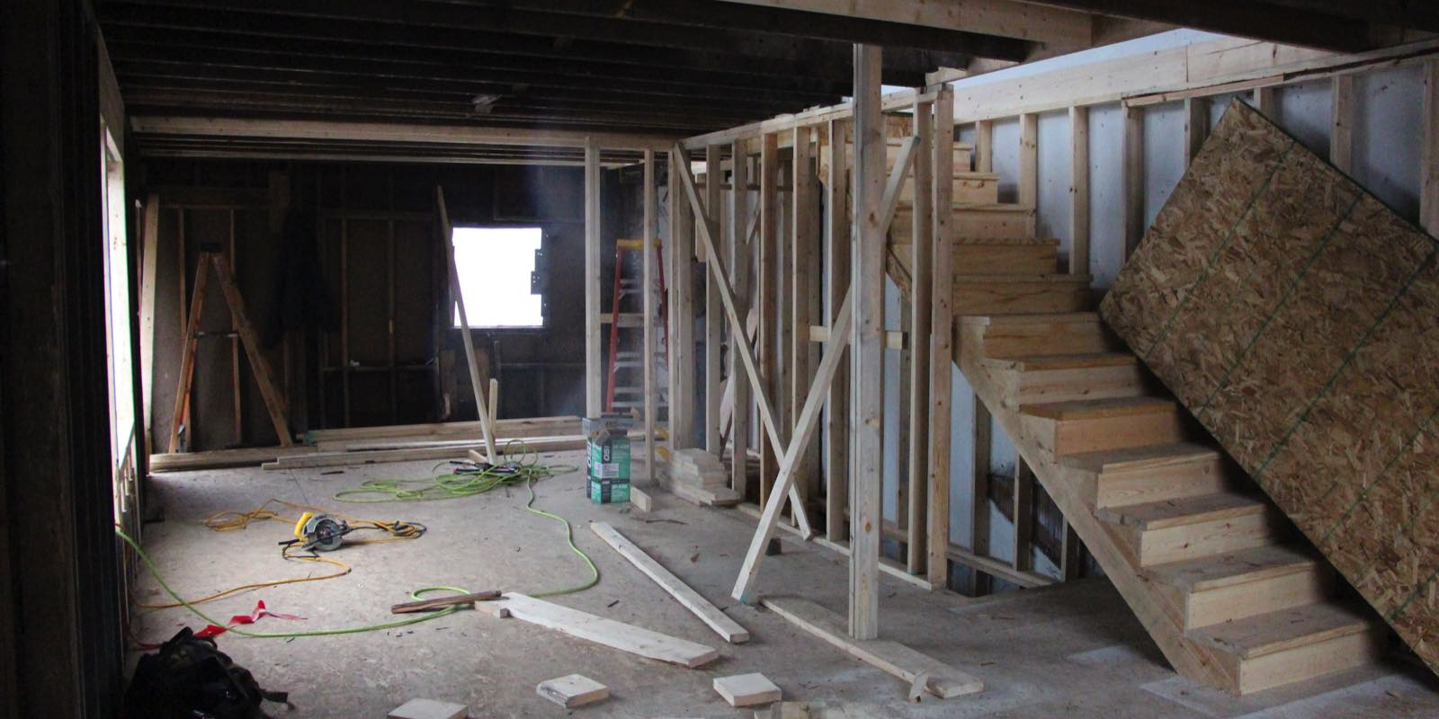 Interior Construction on the First Floor of a Home